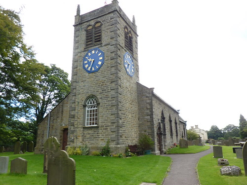 St Peters Church Addingham  The blue clockface was an ide  Flickr