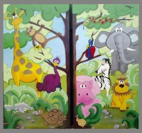 Jungle-mural | Jungle mural hand painted for Northfield ...