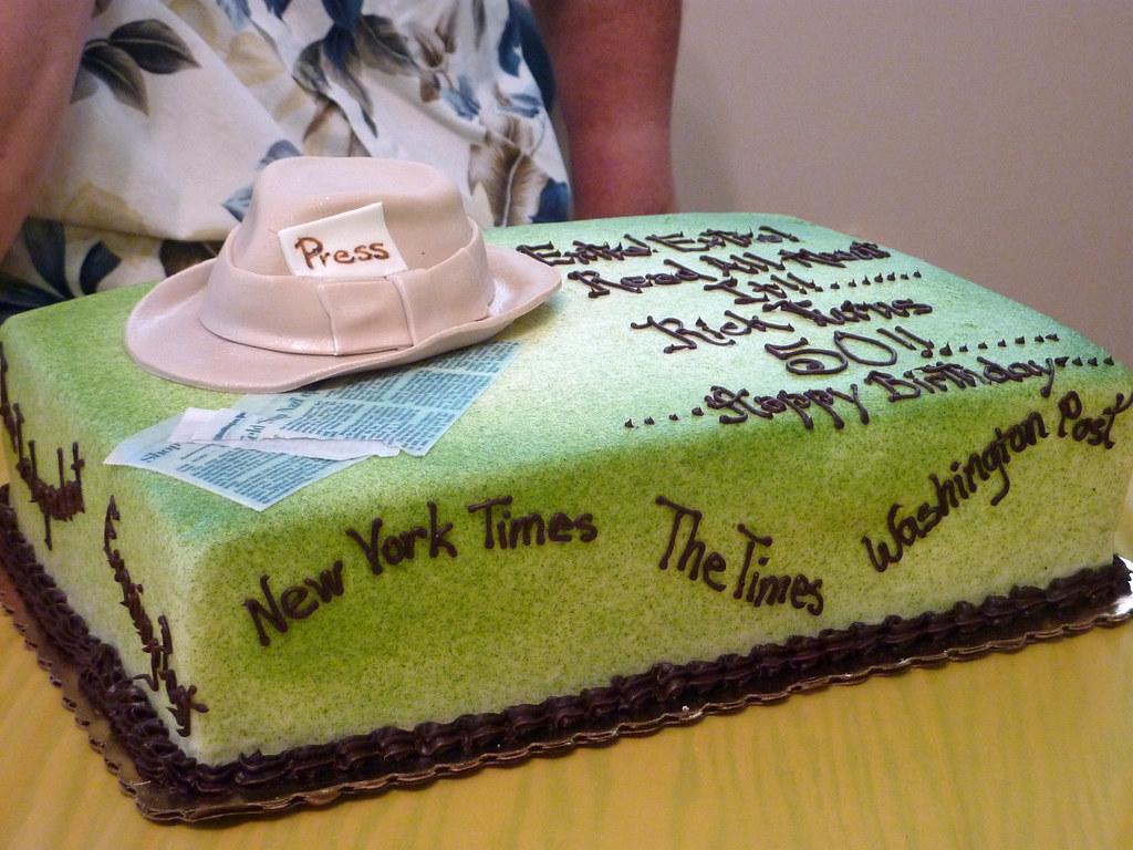 Journalist Birthday Cake Writemeg Flickr