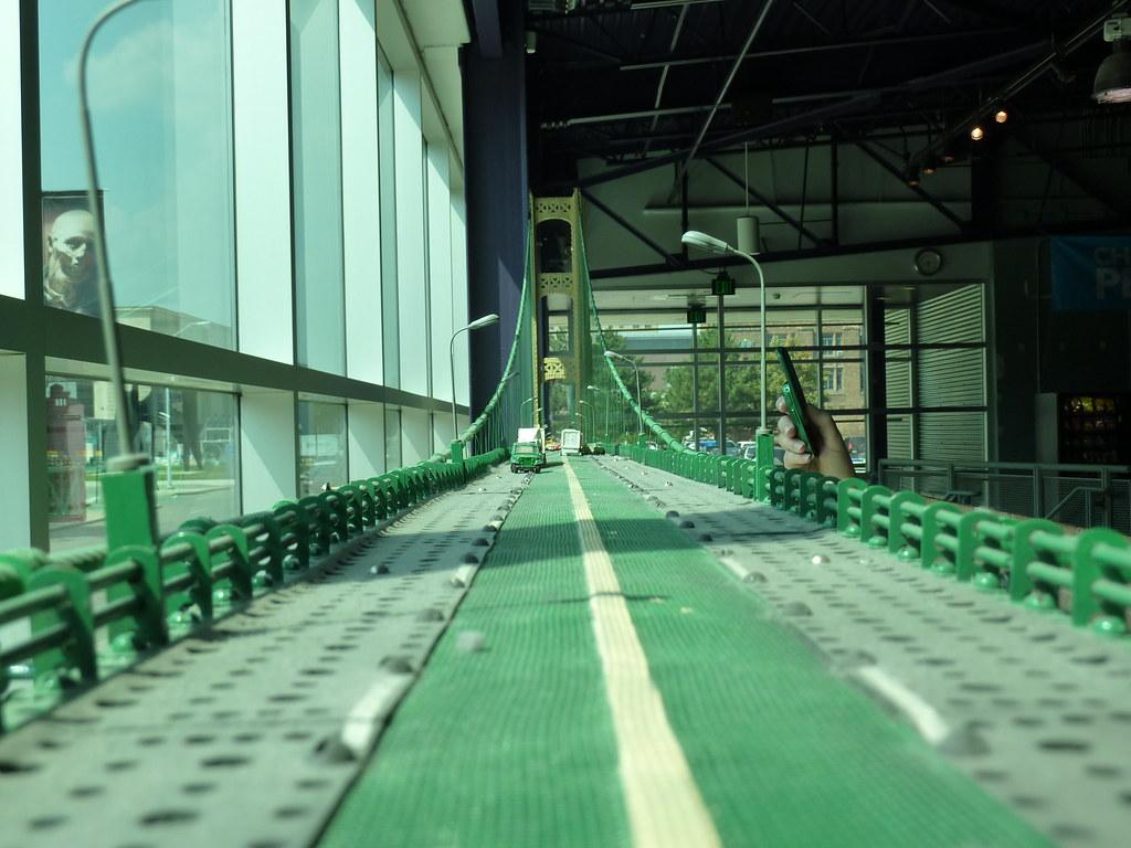 Erector set Mackinac Bridge model Detroit Science Center