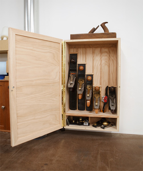 Hand Plane Cabinet  Made a proper storage cabinet for