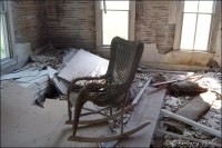 4. Creepy House - living room | An old wicker rocking ...