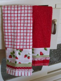 Strawberry towel set for kitchen decor | A strawberry ...