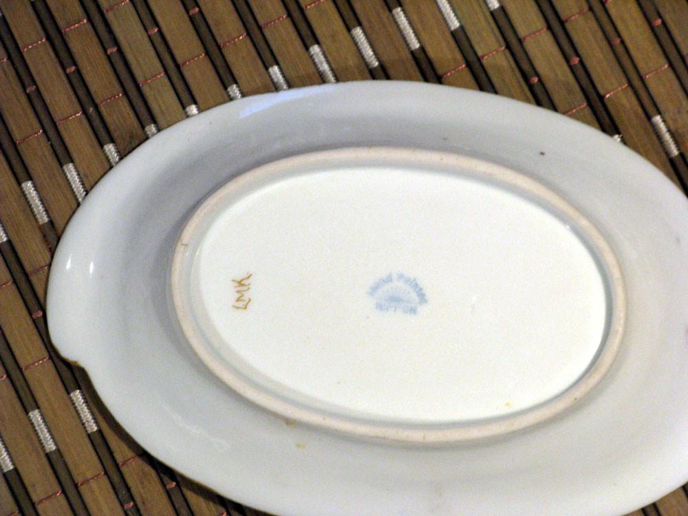 Antique Victorian Nippon Hand Painted Rising Sun Salt Dish