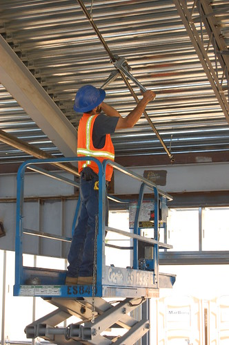 Installing Fire Sprinkler Systems  A workman installs the f  Flickr