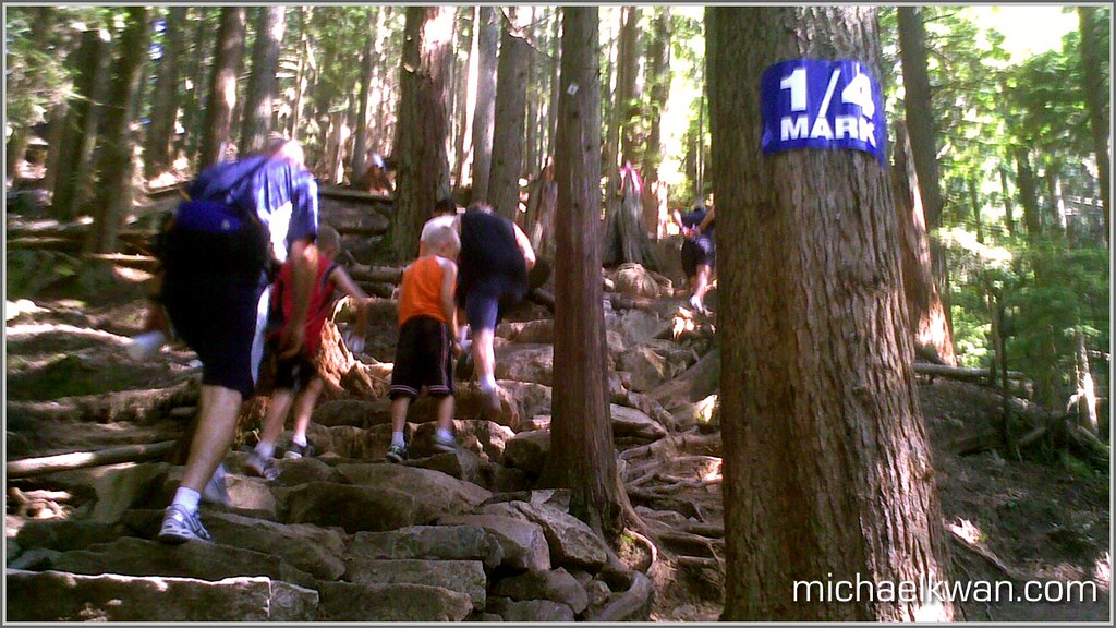 The Grouse Grind  michaelkwancom  The 14 mark sign on