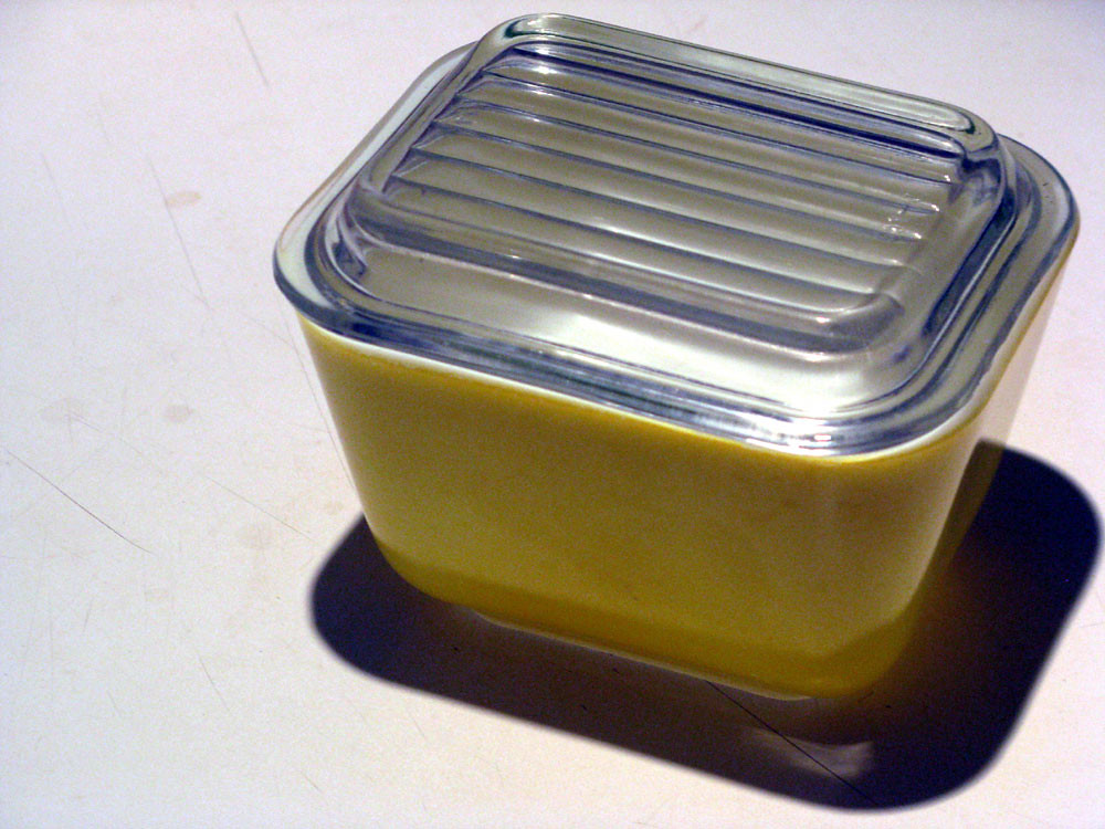 Vintage Yellow Pyrex Refrigerator Container  Small  Flickr