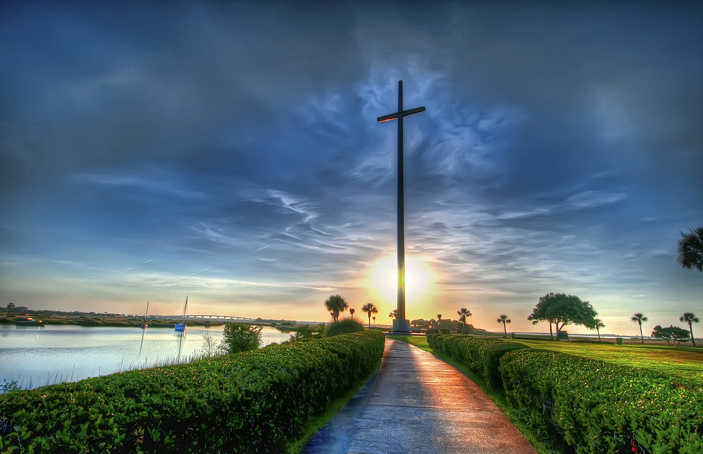 Walk To The Cross Sunrise Small  St Augustine, Fl