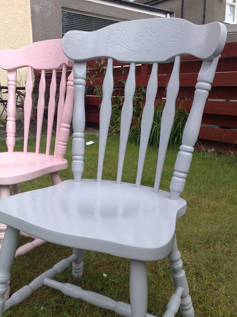 grey painted chairs p pod chair for sale pink and pamela clocherty flickr by cushion cake