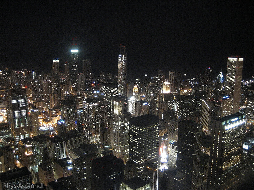 Www 3d Wallpapers Com Free Download Chicago Skyline Night Chicago Skyline Night Flickr