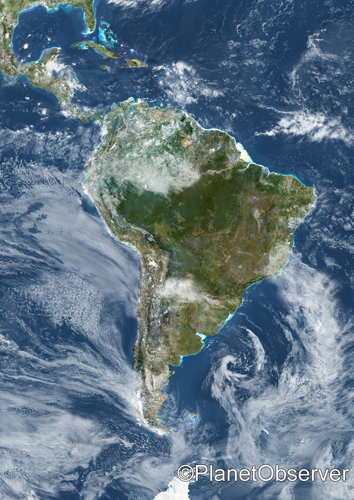 South america  Satellite image  PlanetObserver  South