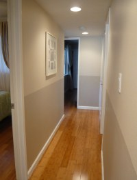 Two-tone hallway | Ta-da! I almost went for a pretty green ...