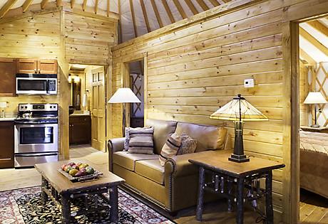 Yurt Living Room  Shenandoah Crossing  Shenandoah