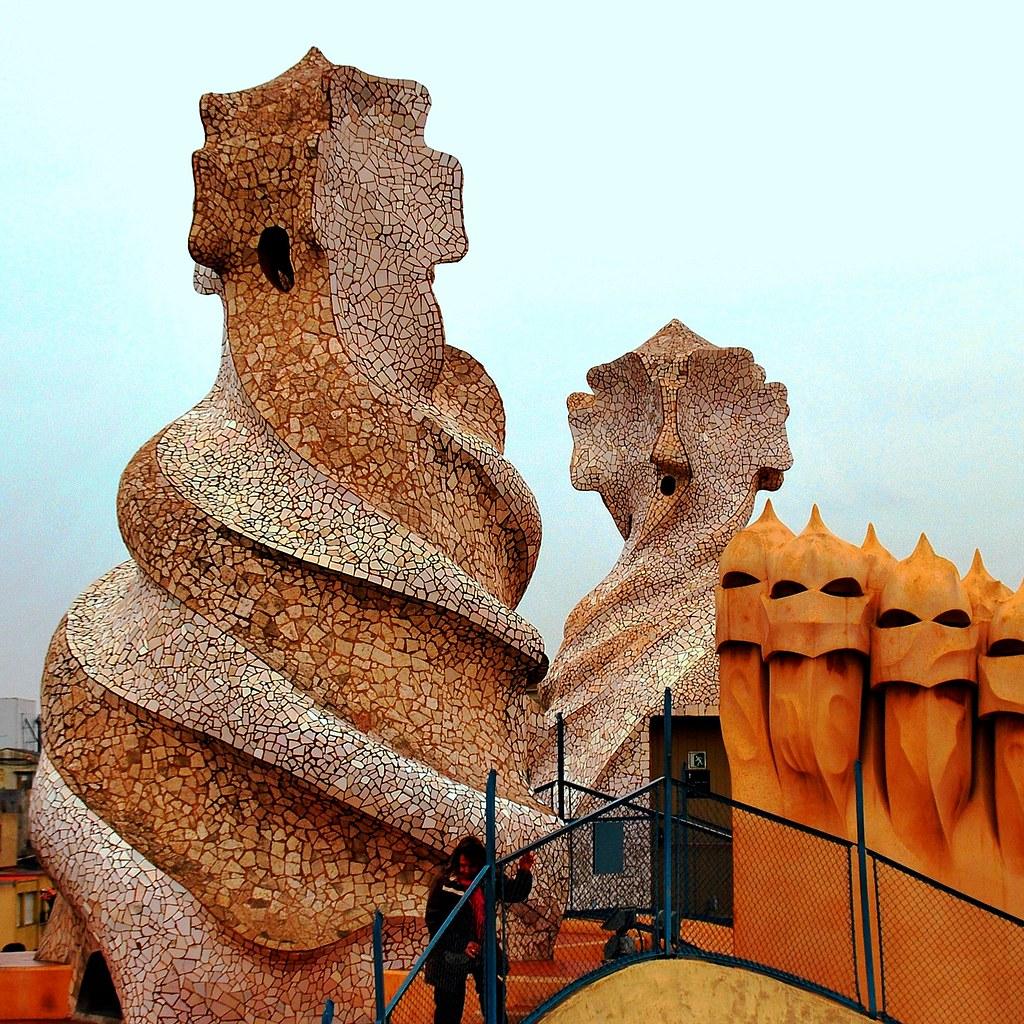 71a Chimeneas y salidas Cubierta La Pedrera Barcelona 728  Flickr