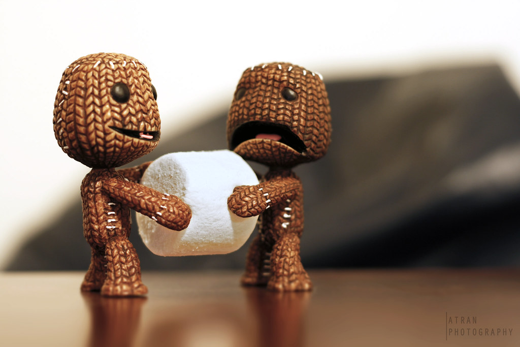 Sweet Cute Wallpapers Marshmallow Tug Of War Scared Sackboy Was Enjoying A