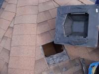 Attic Vent Leak Repair - Mr Roof Repair   Roof cement on ...