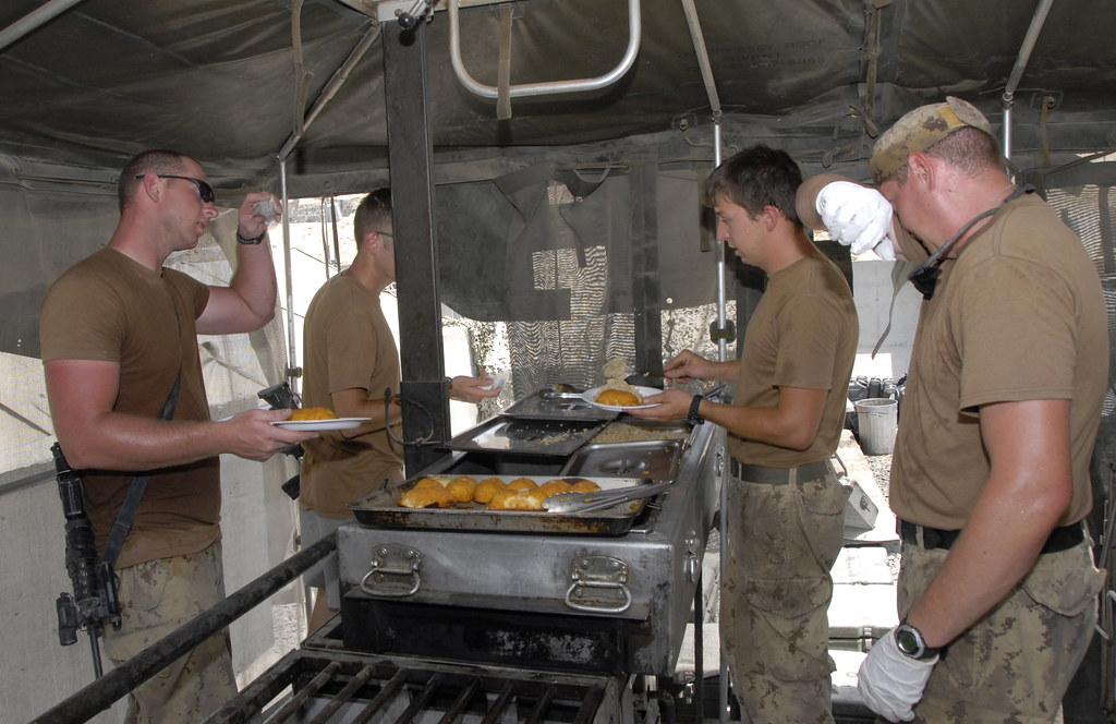 Field kitchen at the Canadian forward operating base FOB