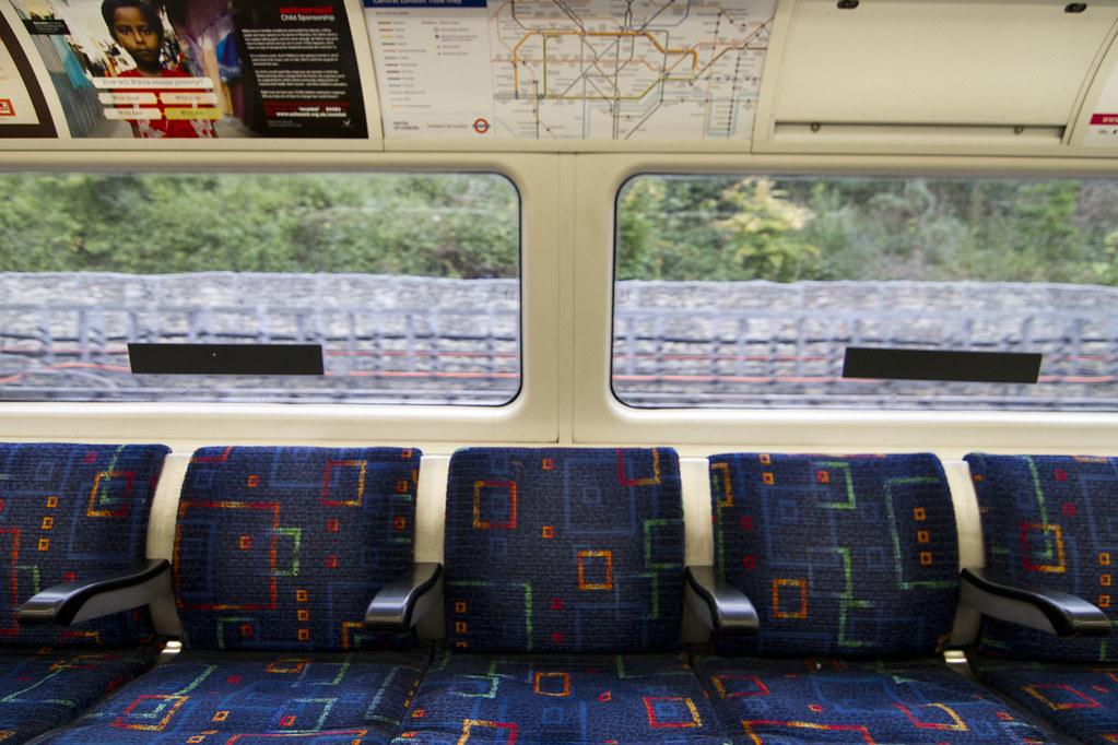 Plush seats on the London Underground  Frederick