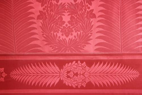 Le papier peint salon rouge  A lpoque de Pauline la pi  Flickr