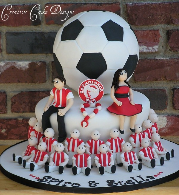 Soccer Player Grooms Cake Took one FULL week working