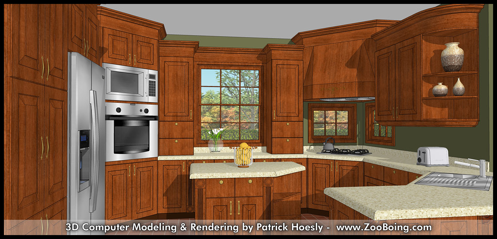 3D Computer Rendering  Kitchen SketchUp Rendering  Flickr
