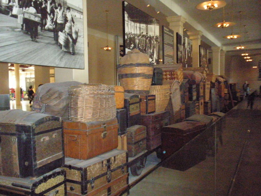 Luggage Inside Ellis Island Immigration Museum Alex