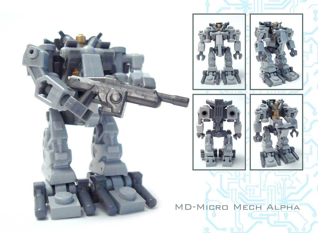 MD Micro Mech Alpha I Give You The Smallest Piloted Lego