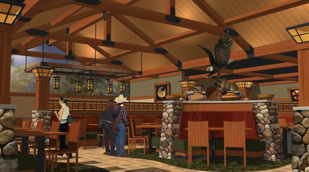 Casino Buffet Design  Lodge Style Buffet Dcor  Soboba C