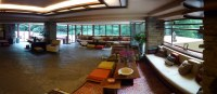 Fallingwater living room by Frank Lloyd Wright (pano 5 ...