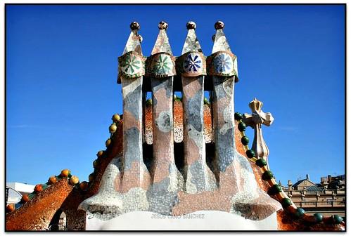 Xemeneies Casa Batll LEixample Barcelona el Barcelon  Flickr