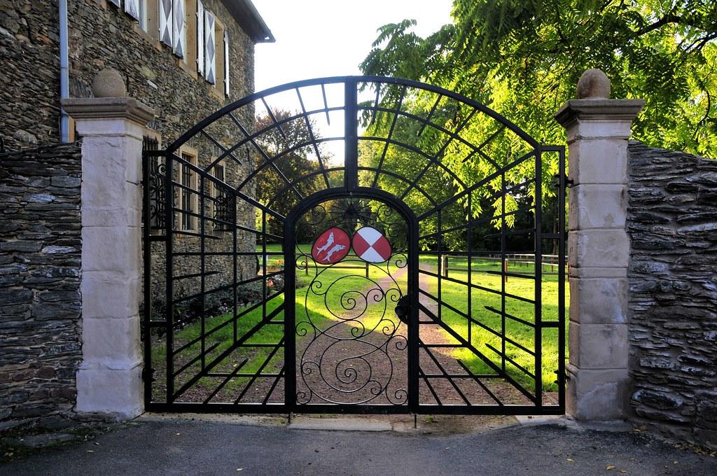 Grille de fer forg  Le portail daccs aux jardins du cht  Flickr