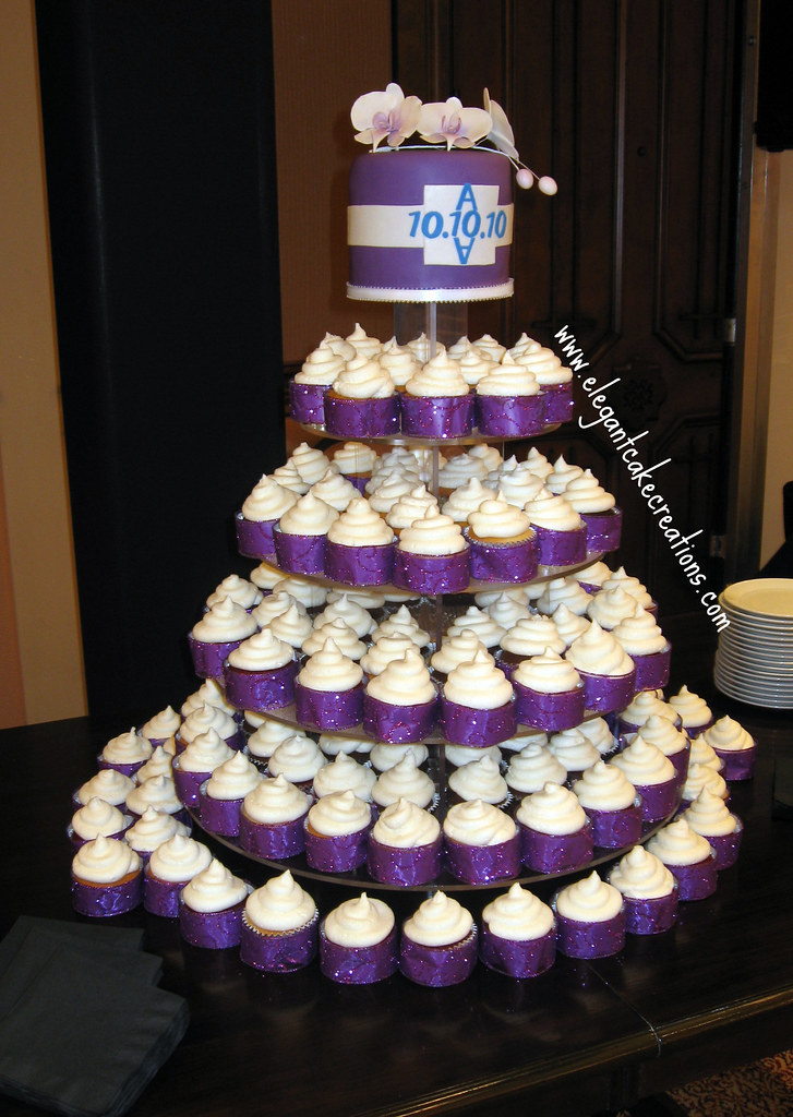 White And Purple Wedding Cupcakes Rush Order For 1010