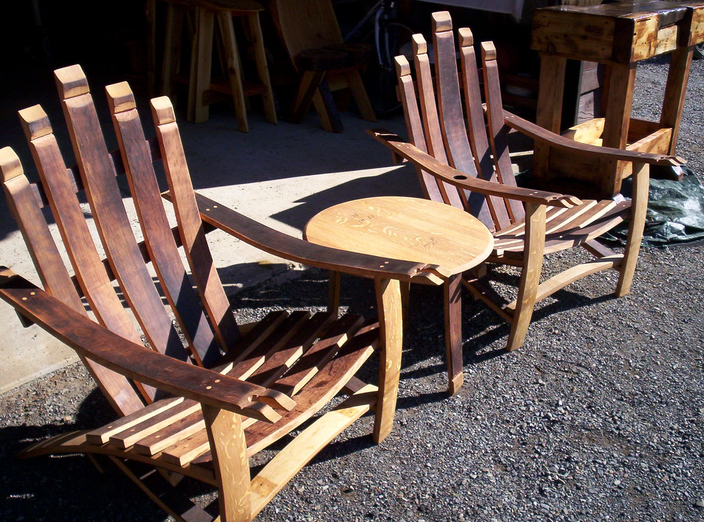 adirondack wine barrel chairs wooden ladder back chair with padded seat quarter sawn oak wi flickr by linkslogs
