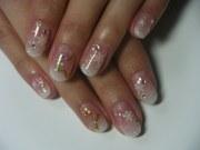 gel nail design winter version