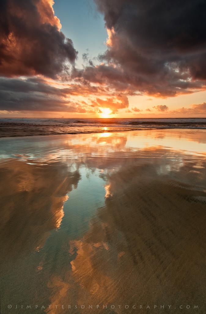 Sunset Reflections  San Gregorio State Beach California