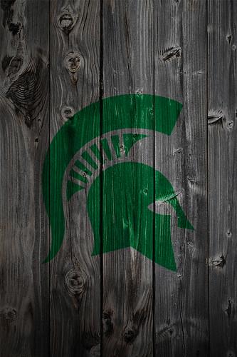 3d Patriots Wallpaper Michigan State Spartans Alternate Logo Wood Iphone 4 Backg