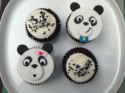 Panda cupcakes  kgroovy  Flickr