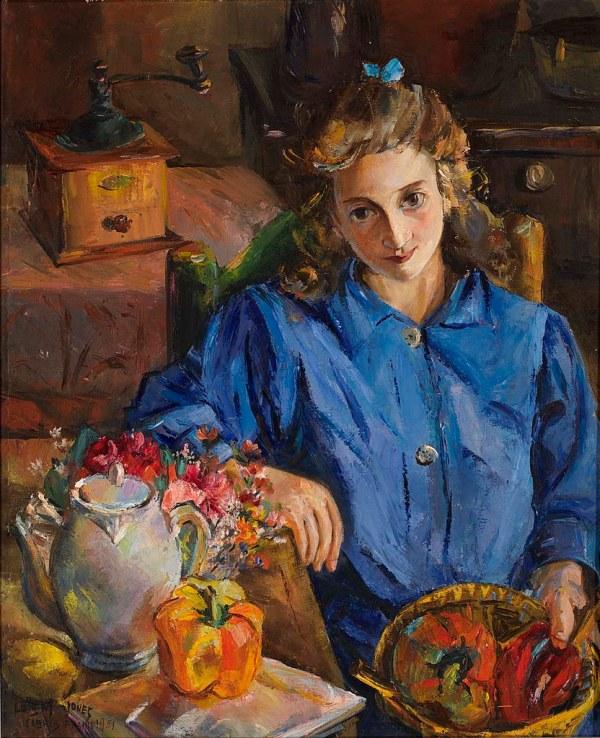 Lois Mailou Jones - Jeune Fille Francaise 1951 Mail