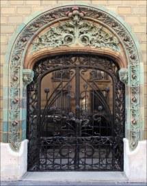 Entr ' Immeuble Art Nouveau Paris Porte 'entr