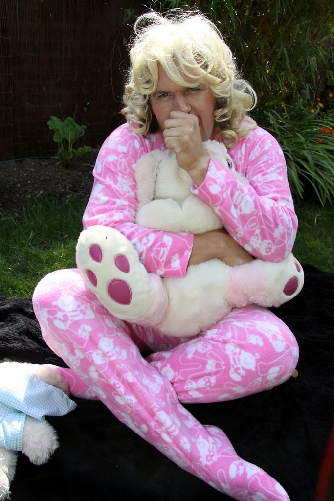 big baby sammy in her footed pjs  this is me in my pink