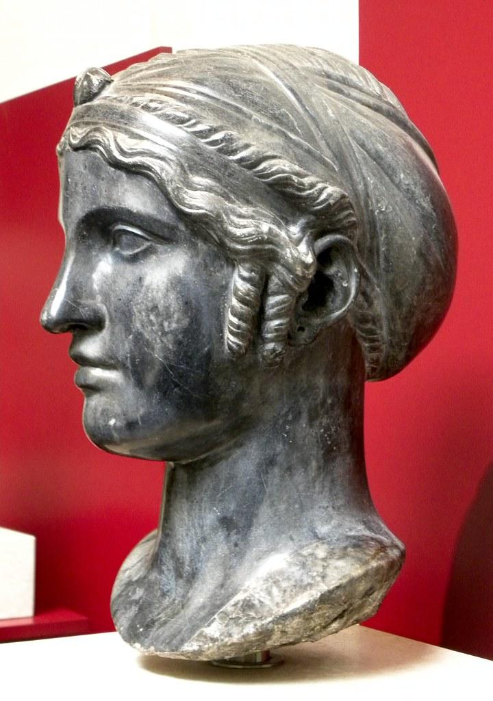 Sappho  The poet Sappho 612580 BC easily identified