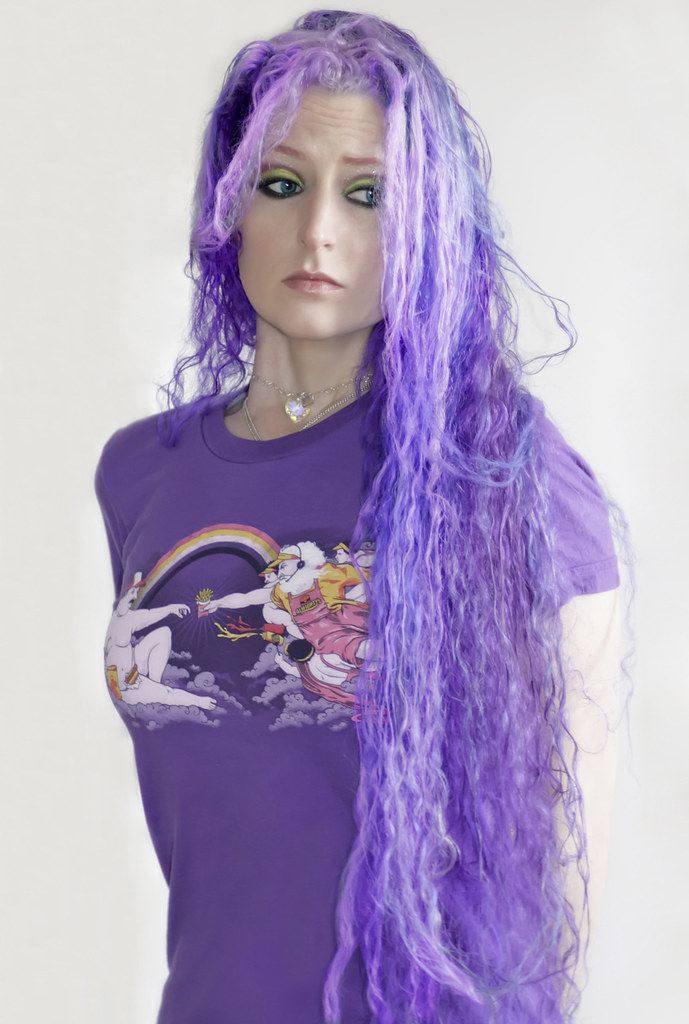 Wet Frizzy Purple Hair This Is From When The Power