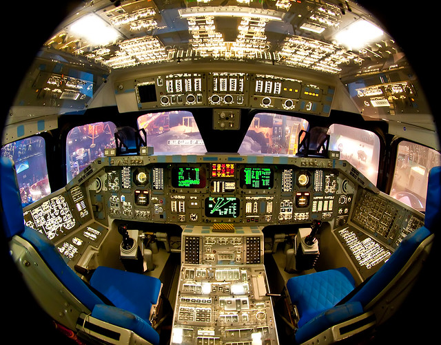 Space Shuttle Cockpit At The NASA Space Center In