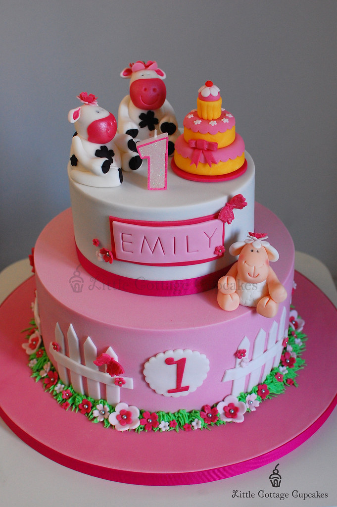 My Baby Girl Is 1! This Is The Birthday Cake That I Have