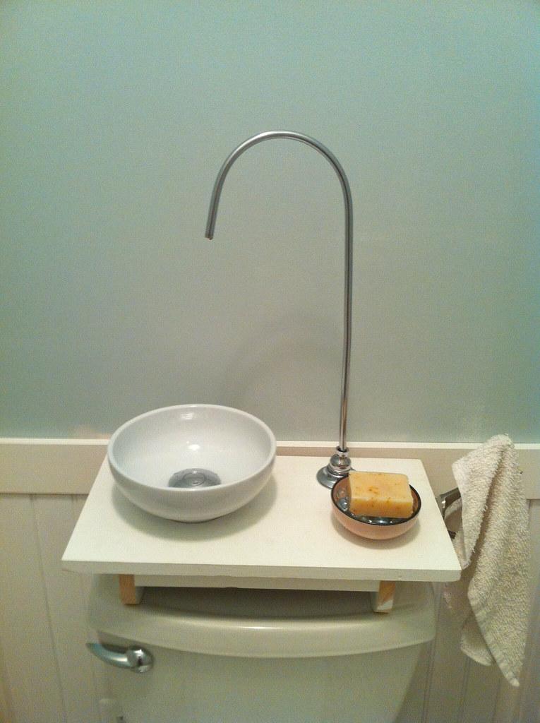 DIY Toilet Tank Sink  Built a gray water handwashing