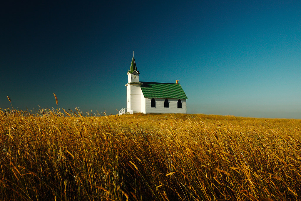 Free Early Fall Wallpaper Prairie Church A Rural Church Sits All Alone By Itself