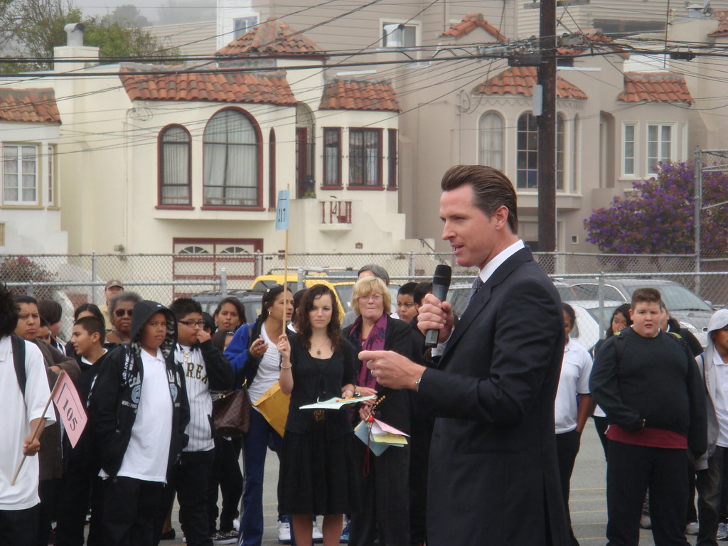 Mayor Newsom Attends First Day Of School At James Denman M  Flickr