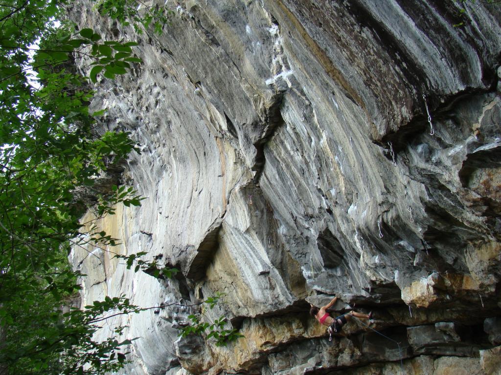 Rock Climbing in Rumney NH  Waimea in Rumney NH