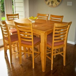 Kitchen Table And Chairs For Sale Queen Anne Wingback Chair Counter Height 6 200