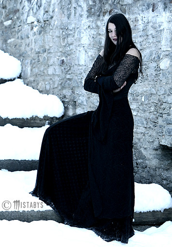 Goth Girl In The Snow Gothic Lady In Winter Model